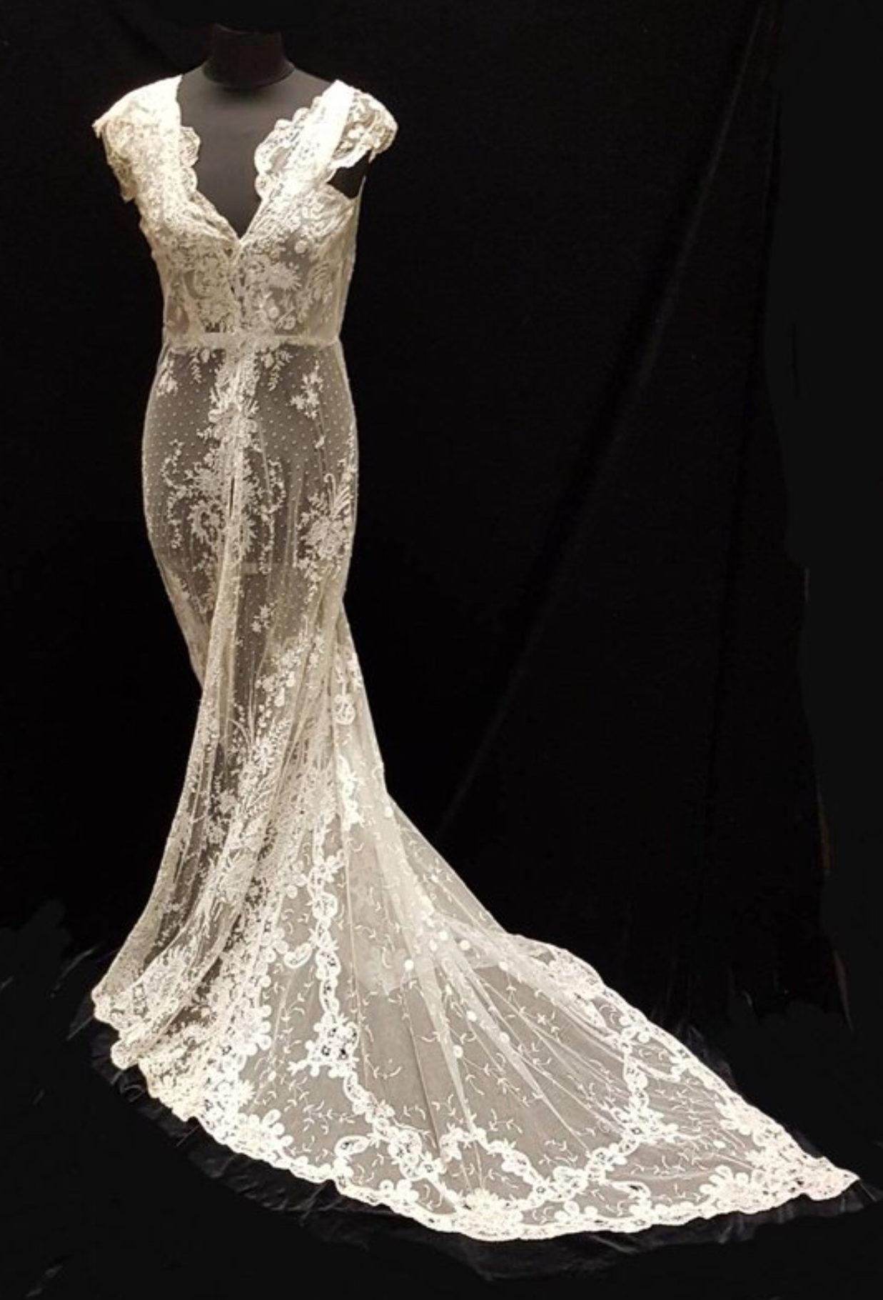 Original Antique Lace Bridal Gown